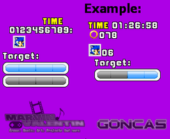 Sonic Adventure HUD Sprite Ver.2 by marvinvalentin07