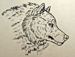 Wolf Head Ink by VorpalBeast