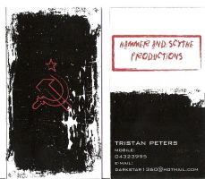 Hammer and Scyth business card by tristow
