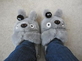 Totoro Slippers by studioofmm