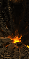 Tunnel of fire by KPEKEP