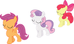 Cutie Mark Crusaders - We Got Hearts by strawberrythefox1452