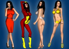 Spider-Woman Jessica Drew extra looks by Happenstance6