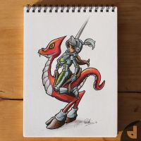 Dino Knight by Area-44