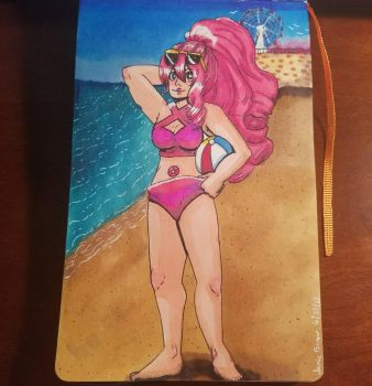 Beach Babe: Rose Quartz  by TinyfoxTrot