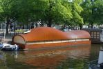 Sage Shaped Barge, Amsterdam by bobswin