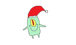 Plankton with Christmas Spirit by Simpsonsfanatic33