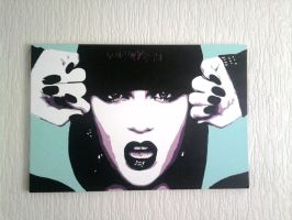 Jessie J Pop Art Canvas by covtown31