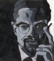 Malcolm X by IkeDaArtist