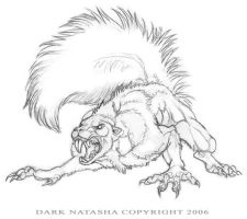 WereSquirrel by darknatasha