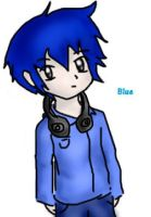 Dick Figures: BLUE (anime version) by ariannejae