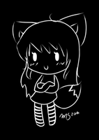 Black and White lineart by Tawiie