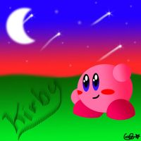 Kirby under the stars by stormcannon1
