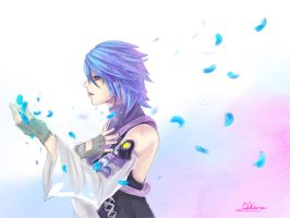KH Aqua blue rose by Qkung