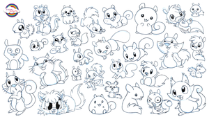 30 Studies of Character Design - Squirrel by Daieny
