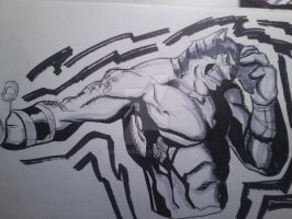 1-23-13 Sketch of the Day KING by IronLion82