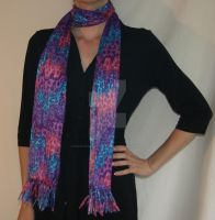 Multicolored Leopard Print Scarf by BeautifulEarthStudio