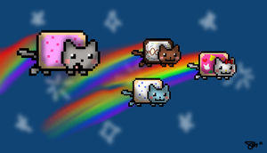 Nyan Cat Babies by NaNO3Spicer