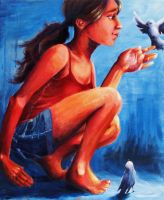 The girl and the birds by joni-lynne
