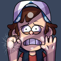 Dipper says 'HELP!' from the internet world GIF by Ice-Fire-Bolt