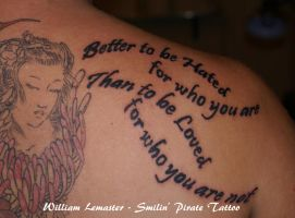 Better to be Hate...- by Bill by SmilinPirateTattoo