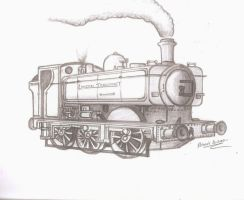 LT Pannier Tank Engine Sketch by Robie-Chan