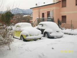 my vw beetle winter by TheSniper92