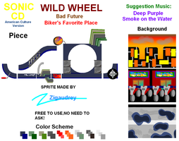 Sonic CD-Custom Sprite-Wild Wheel-BF by zigaudrey