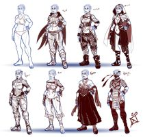 Half Orc Costume Sheet by AggroArt