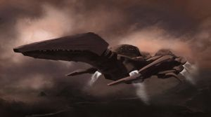 Interstellar Pterodactyl Dropship by Pandazoic