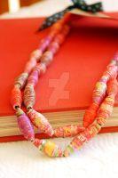 Recycled Paper Bead Necklace by BoutiqueVintage72