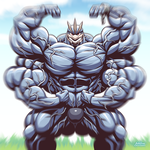 A wild Machamp appeared by TheFabulousCroissant