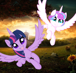 Flurry Heart Y  Twilight Sparkle MLP by YulianaPie26