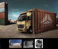 Truck container by HaryHerbert