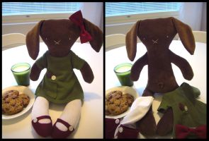 Clara the rag-rabbit by kittyvane