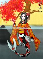 Geisha Koi of Autumn by LadySquall