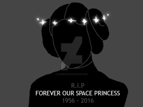 RIP Carrie Fisher 2016 by Championx91