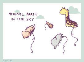Animal Party by ScienceIsHardcore