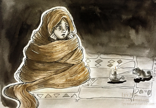 Inktober 7 - Hair cocoon by Ly-s