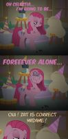 Pinkamena Pie - Forever Alone by Skunkiss