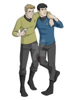 Commission - Kirk and Spock by DeanGrayson