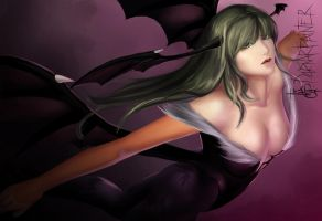 Morrigan Aensland by DarnArtPainter