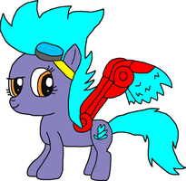 MLP Spitfire with Skylanders Spitfire Features by Blackrhinoranger