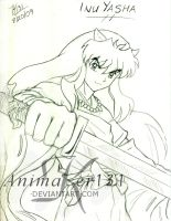 InuYasha for Dragonfire16 by Animaker131