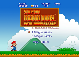 Super Mario Bros. - Title Screen Remaster by WhiteLionWarrior