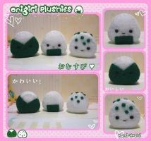 Onigiri Plushies by littlepaperforest