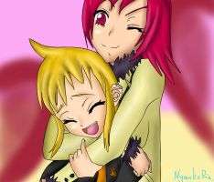 hug from behind. by NyankoRin