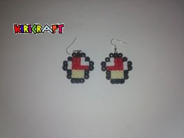 earrings mushroom by kiri-chan1990