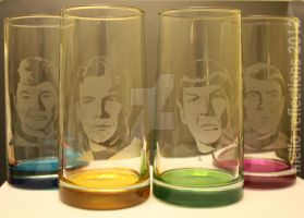 Star Trek TOS Glass Set by MelloReflections