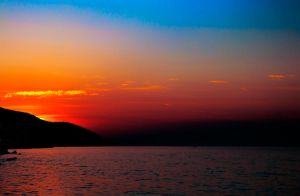 Burning sky in Thassos - Greece by Arth72